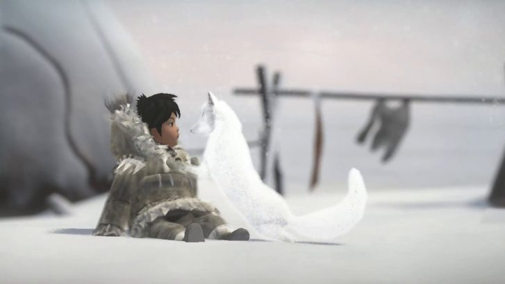 One Girl and Arctic Fox